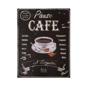 Plechová ceduľa Antic Line Pause Café