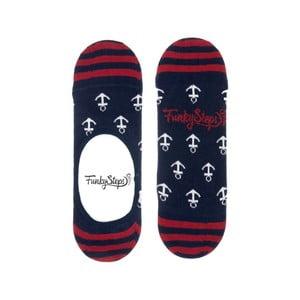 Farebné nízke ponožky Funky Steps Anchor, veľkosť 39 - 45