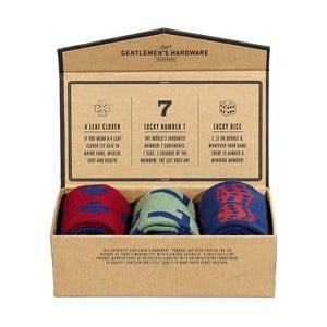 Sada 3 párov ponožiek Gentlemen's Hardware Lucky Socks, veľ.41-45