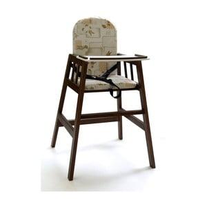 Tmavohnedá drevená detská jedálenská stolička Faktum Abigel