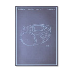 Plagát Boom Box, 30x42 cm