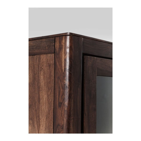 Ručne vyrábaná vitrína z dreva sheesham Kare Desgin Brooklyn Walnut