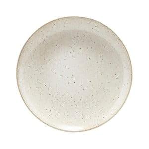 Béžový tanier z kameniny House Doctor, ø 21,4 cm