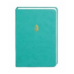 Tyrkysový zápisník Portico Designs, 300 strán