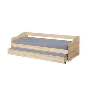Jednolôžková rozkladacia posteľ z masívneho borovicového dreva Interlink Malte, 90 x 200 cm