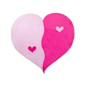 Detský koberec Beybis Pink Heart, 120 cm