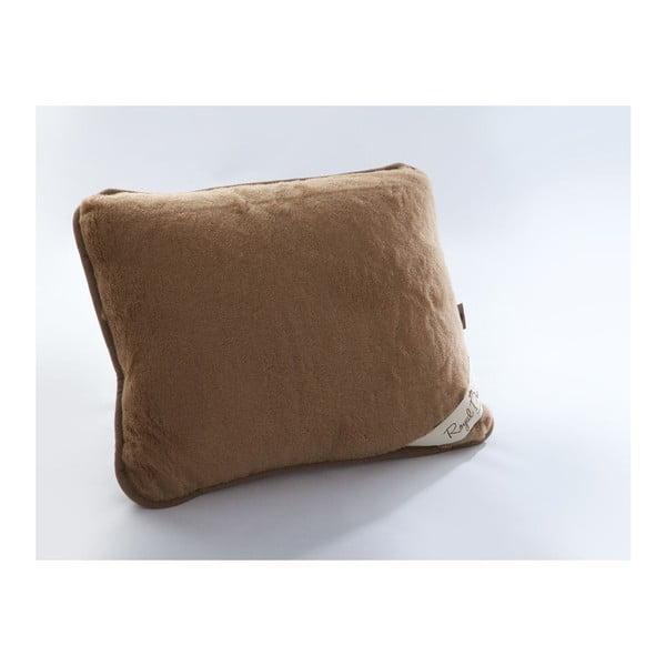 Vlnený hnedý vankúš Royal Dream Cami Brown, 50×60cm