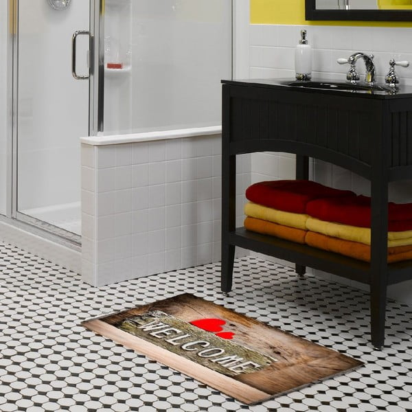 Vinylový koberec Welcome, 52x75cm