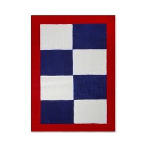 Detský koberec Mavis Blue and Red Checks, 100x150 cm
