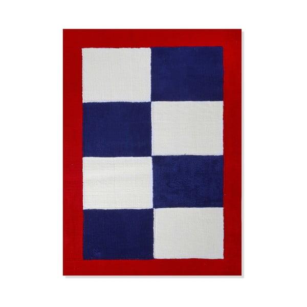 Detský koberec Mavis Blue and Red Checks, 120x180 cm