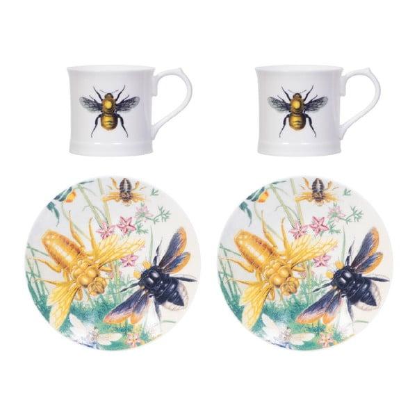 Sada 2 šálok s tanierikmi Curious Bee