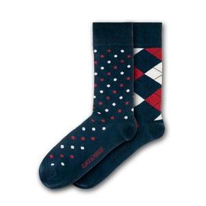 Sada 2 párov ponožiek Black&Parker London Deanery Garden, veľkosť 37 – 43