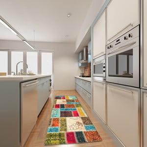 Vysokoodolný kuchynský koberec Webtappeti Patchwork, 60 x 115 cm