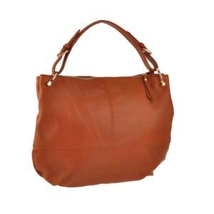 Kožená kabelka Auva, hnedá