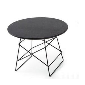 Čierny odkladací stôl Innovation Grid, 35 cm