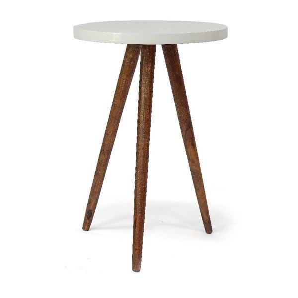 Stolík Tondo Bianco, 40x60x40 cm