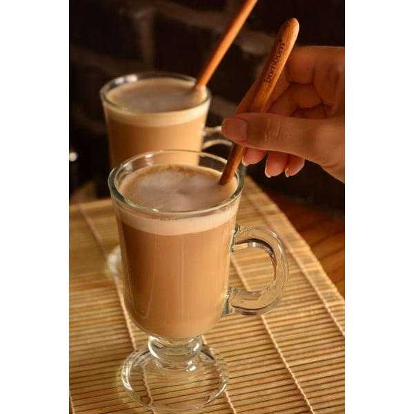 Sada 2 bambusových lyžičiek na latté Bambum Legro