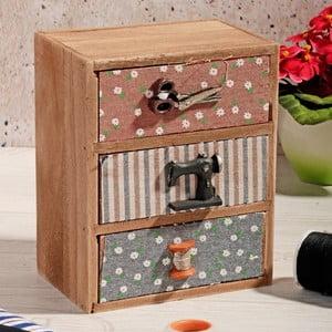 Drevený box na šitie Drawers