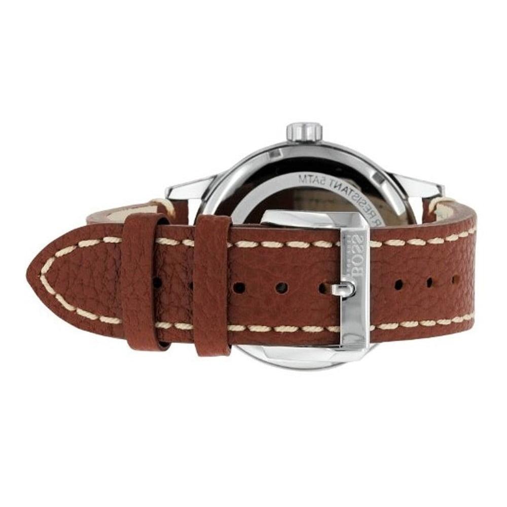 Pánske hodinky s koženým remienkom Hugo Boss Joyce ... 922295431ea