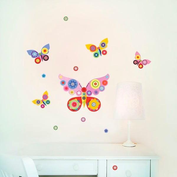 Samolepka na viac použití Pink Butterflies