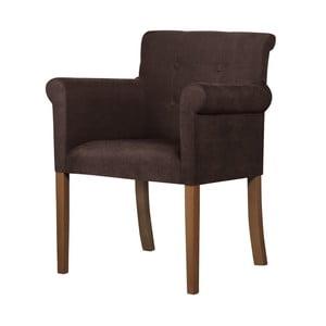 Hnedá stolička s tmavohnedými nohami Ted Lapidus Maison Flacon