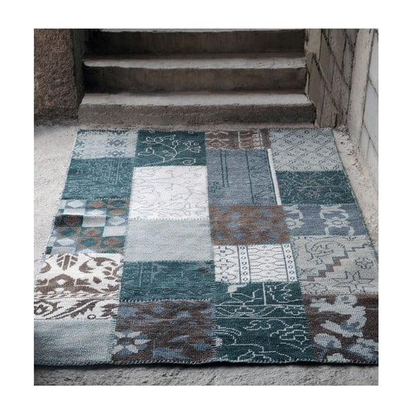 Vlnený koberec Amalfi Grey/Brown, 160x230 cm