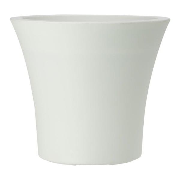 Kvetináč City Curve White, 25x22 cm