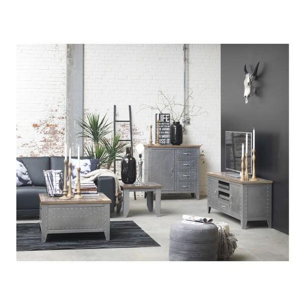 Odkladací stolík Detroit s úložným priestorom, 80x80x45 cm