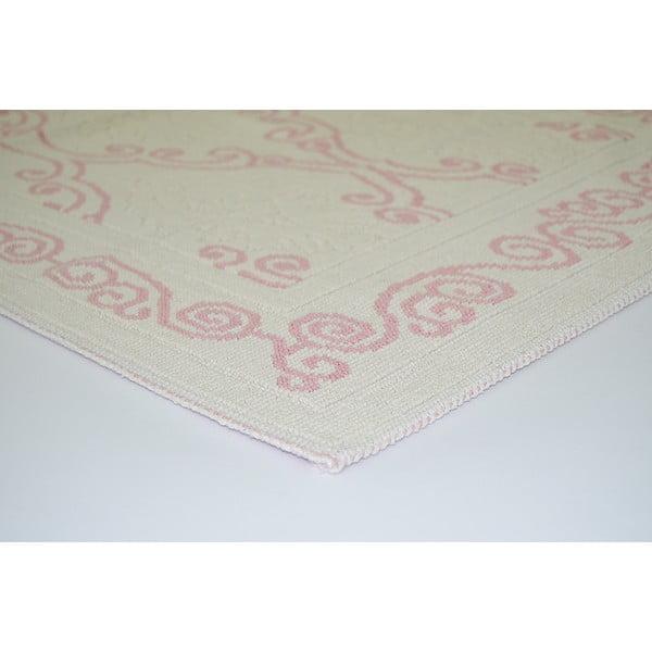 Pudrovoružový odolný koberec Vitaus Primrose, 140x200cm