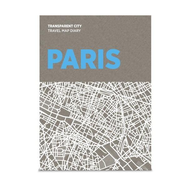 Mapa na popisky Palomar Transparent City Paríž