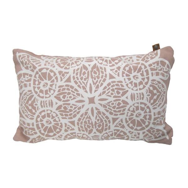Vankúš Overseas Lace Blush/White, 30x50cm