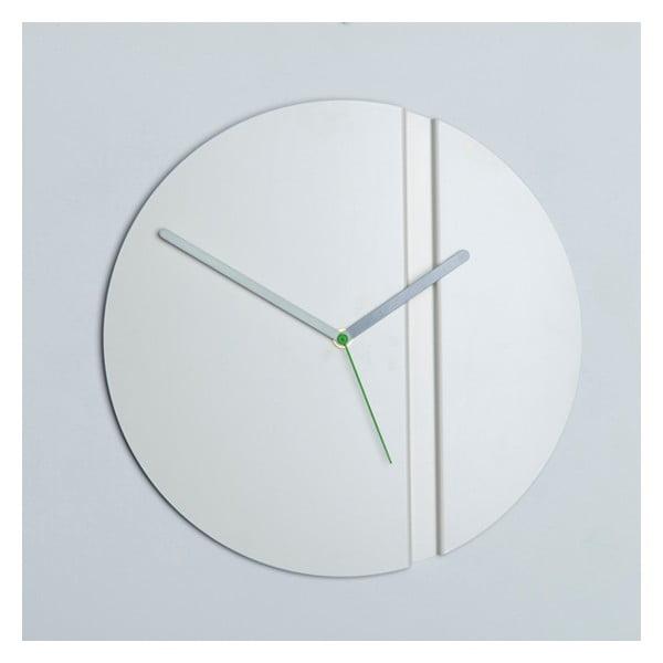 Nástenné hodiny Pleat Fold, biele