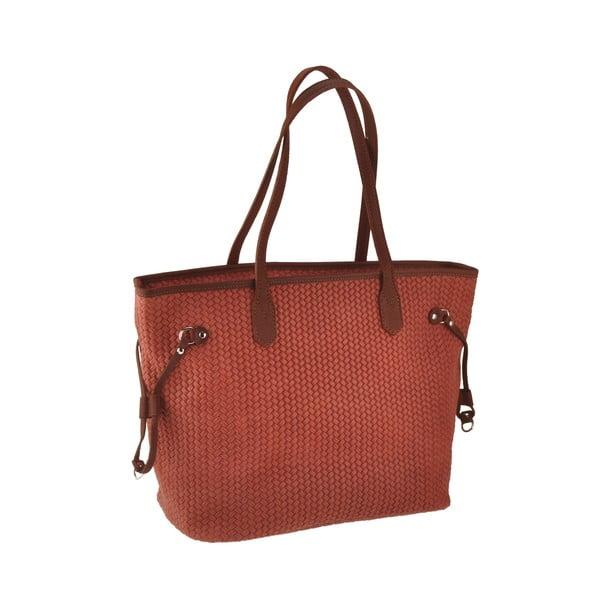 Oranžová kožená kabelka Florence Merga