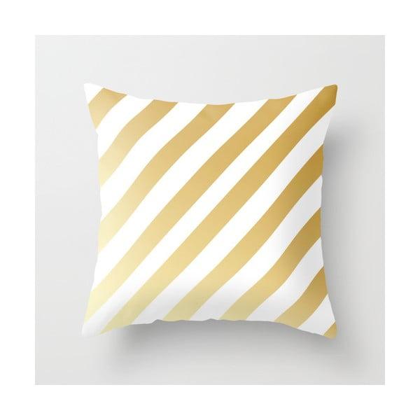 Obliečka na vankúš Gold Stripes, 45x45 cm