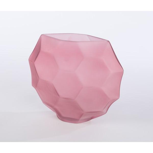 Sklenená váza Oleandra 25 cm, růžová