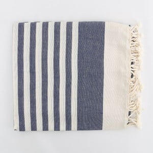 Hammam osuška Fouta Dark Blue, 100 x 180 cm