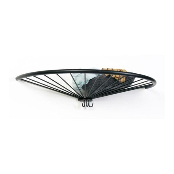 Nástenný vešiak Pinna Hat, čierny