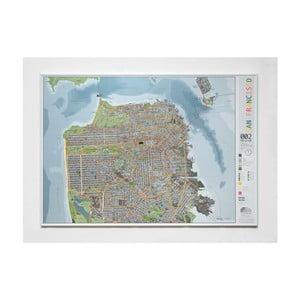 Mapa San Francisca The Future Mapping Company Street Map, 100×70cm