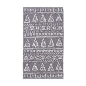 Sivý uterák Nordic Winter, 90x140 cm