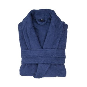 Námornícky modrý bavlnený župan Casa Di Bassi, veľkosť M/L