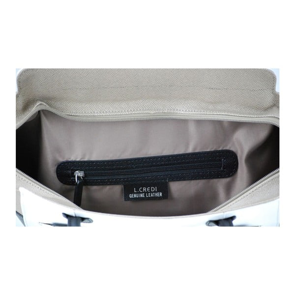 Kožená kabelka Gina Taupe/Bianco