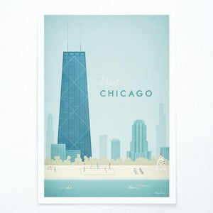 Plagát Travelposter Chicago, A2