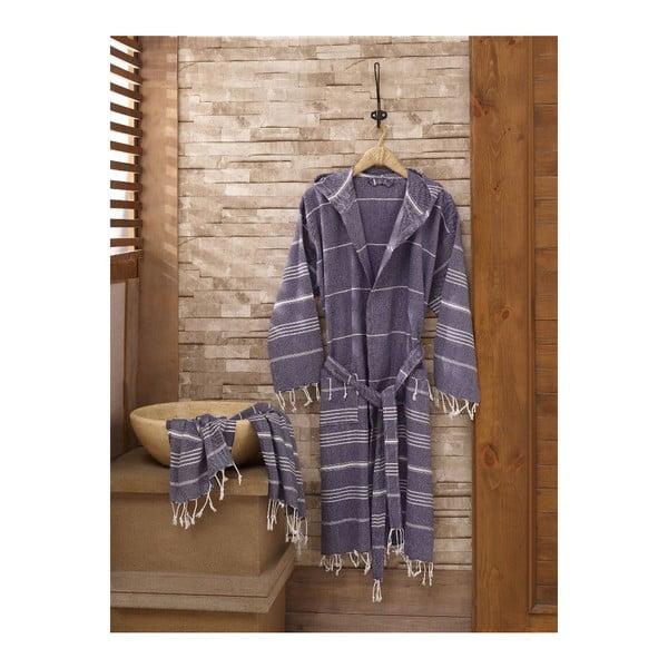 Set županu a ručníku Sultan Dark Blue, vel. L/XL