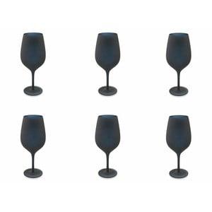 Sada 6 čiernych sklenených pohárov Villa d'Este Naima