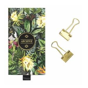 Sada kancelárských sponiek v zlatej farbe Portico Designs Binder