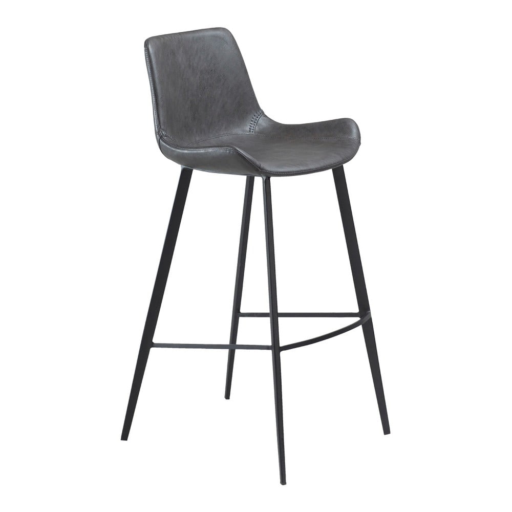 Sivá barová stolička z eko kože DAN–FORM Denmark Hype