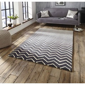 Sivo-biely ručne tkaný koberec Think Rugs Spectrum Grey White, 120 x 170 cm