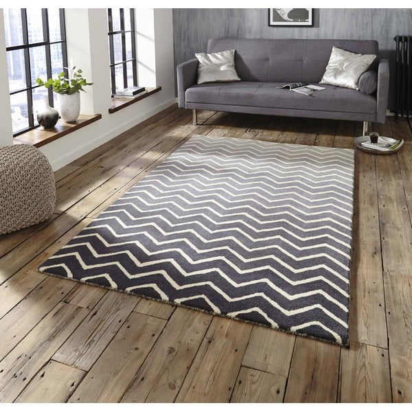Sivo-biely koberec Think Rugs Spectrum Grey White, 120x170cm