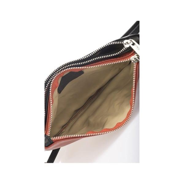 Kožená kabelka Krole Kody s dvoma vreckami, oranžová