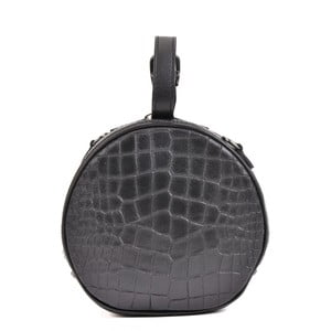 Čierna kožená listová kabelka Mangotti Bags Aura